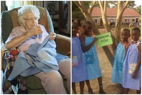 La nonna di 99 anni che ogni giorno cuce un abito per una bambina in difficoltà - Heal the world? Fatto!