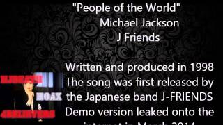 MICHAEL JACKSON unreleased song, People of the World - Songs After.... June 2009